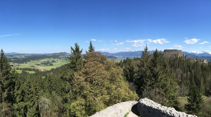 'Site Visit':  Burgen Eisenberg und Hohenfreyberg im Allgäu